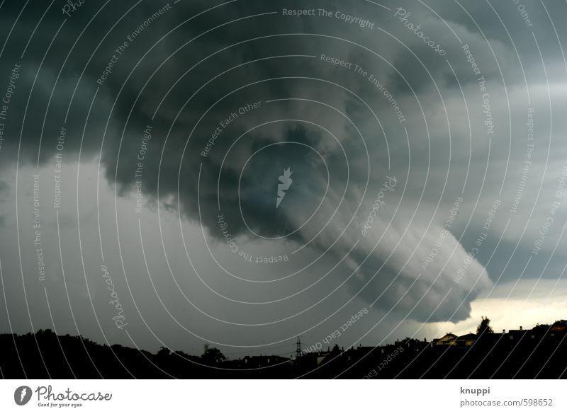 Apokalypse Umwelt Natur Landschaft Urelemente Luft Wasser Wassertropfen Himmel Wolken Gewitterwolken Horizont Sonnenaufgang Sonnenuntergang Sommer Herbst Wetter