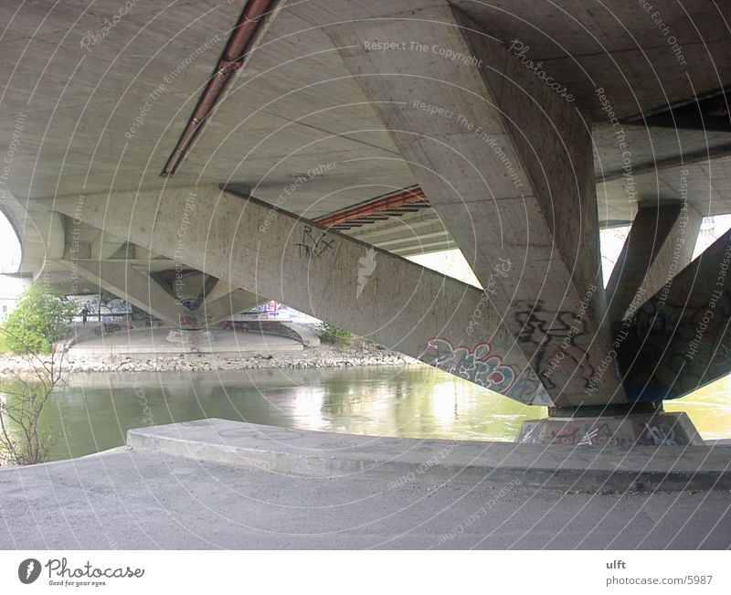 Donaukanalbrücke Brücke Abwasserkanal Architektur
