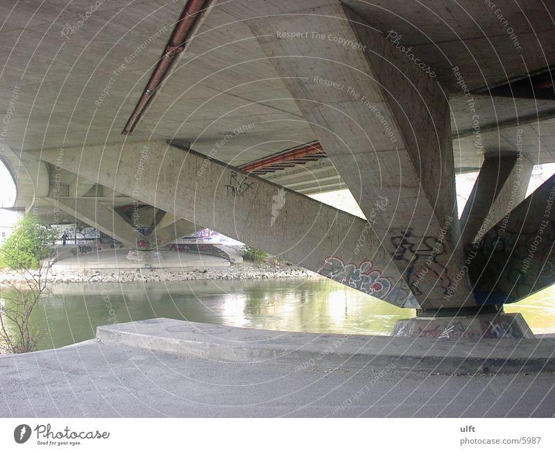 Donaukanalbrücke Brücke Abwasserkanal Donau