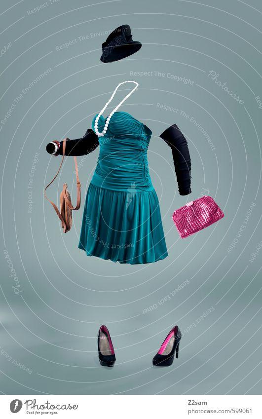 KLEIDER MACHEN LEUTE feminin Stil Mode braun rosa elegant Schuhe Design stehen Bekleidung ästhetisch kaufen Symbole & Metaphern Kleid Hut Model