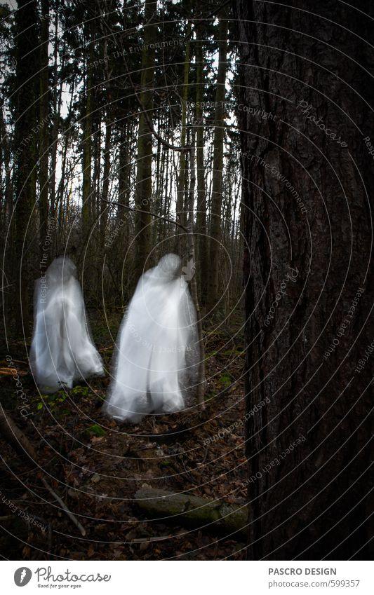 Ghosts Karneval Halloween Trauerfeier Beerdigung Bewegung Aggression außergewöhnlich bedrohlich dunkel gruselig weiß Gefühle Stimmung Überraschung träumen Tod