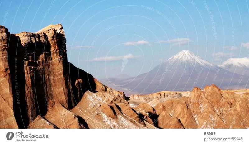 Moon Valley Chile San Pedro de Atacama Death Valley National Park Ferien & Urlaub & Reisen Südamerika Alkoholisiert moon valley Wüste Vulkan Schnee Stein Salz