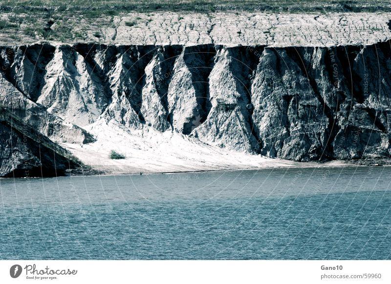 Wasser im Weltall blau Einsamkeit kalt See Küste tauchen Klarheit Hoffnungslosigkeit