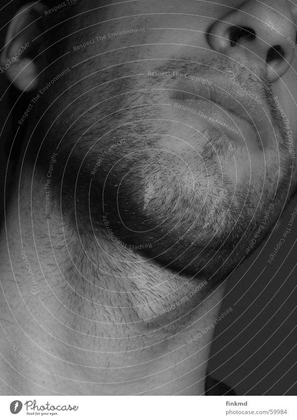 3-Tage-Bart Rasieren rasiert unrasiert Mann Schwarzweißfoto 3-tage Stoppel Bartstoppel Gesicht Haut Hals