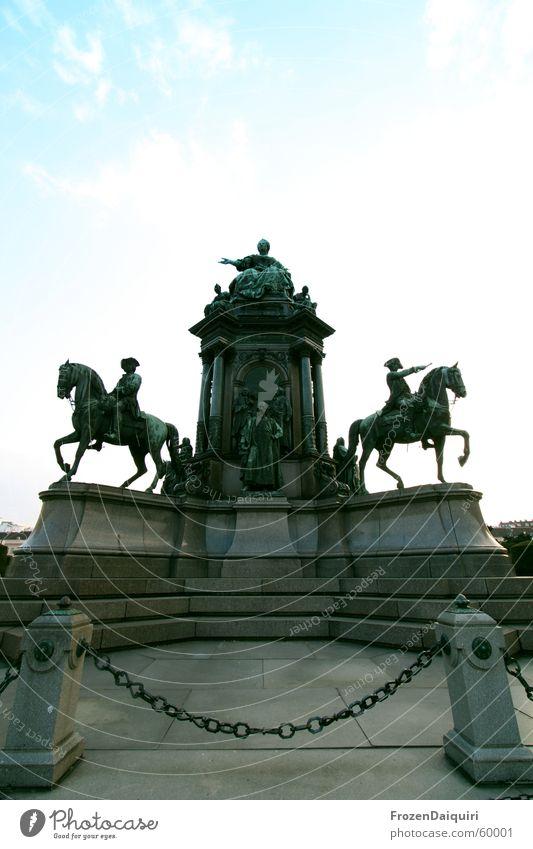 Imperialistisch Statue Denkmal Wien König Kaiserreich kaiserlich Weitwinkel Wahrzeichen maria theresia königlich k&k Canon EOS 350D