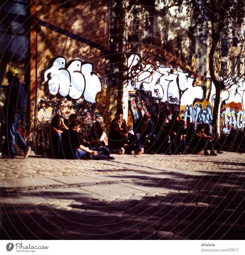 gente Jugendliche Straße Schule Graffiti Kunst Spanien live Madrid La Latina