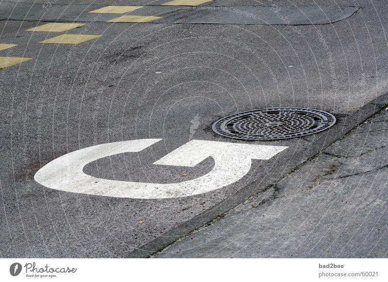 alphabet_g Straße Farbe Asphalt Buchstaben Typographie Fahrbahn