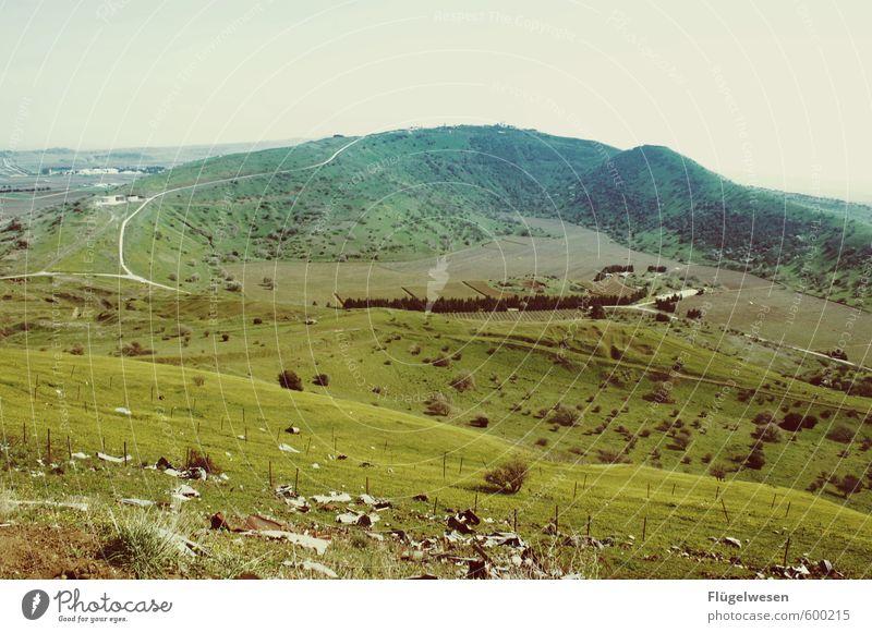 Golanhöhen Natur Pflanze Landschaft Ferne Umwelt Berge u. Gebirge Wiese Freiheit Wetter Klima Ausflug Abenteuer Hügel Klimawandel Wohnsiedlung Syrien