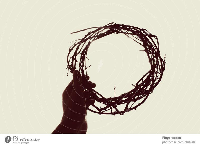 thorncrown Hand Traurigkeit Erfolg Finger Ostern Schmerz Baumkrone Christentum Held König Jesus Christus Krone Dorn schuldig Meister Jerusalem