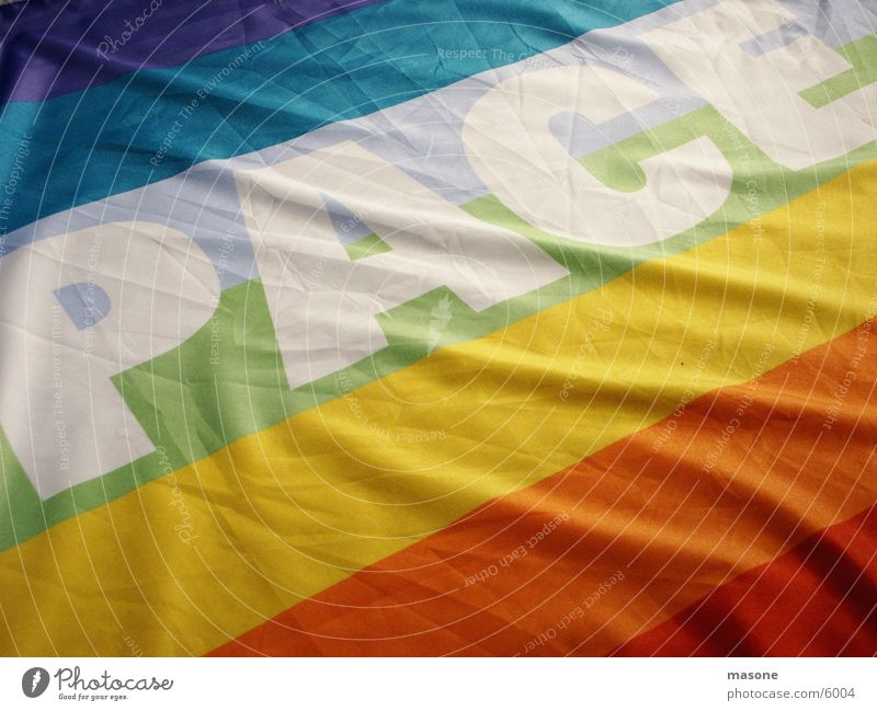 PACE Fahne Frieden historisch Krieg Regenbogen Demonstration