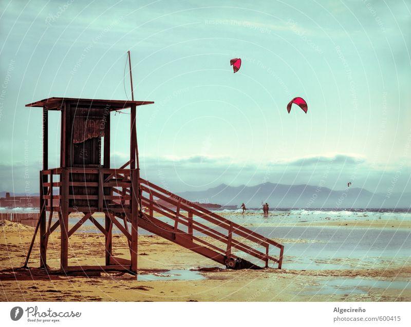 Tarifa, Andalusien Natur Ferien & Urlaub & Reisen blau Erholung Einsamkeit ruhig Strand Leben Gefühle Sport Küste Freiheit Sand Stimmung Klima Tourismus