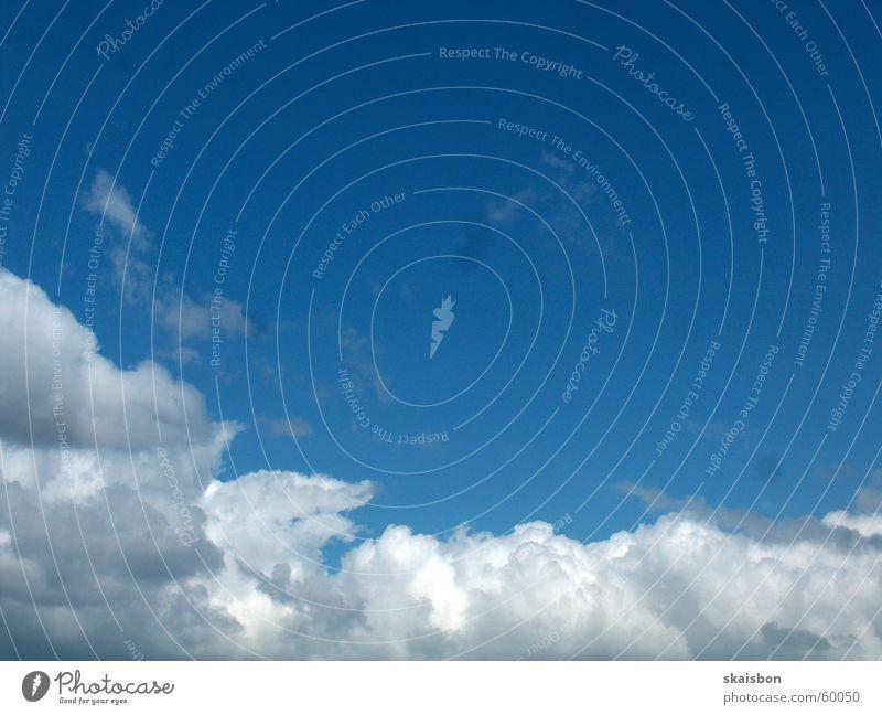 wolkenbett Himmel Natur blau Wolken Ferne Hintergrundbild Freiheit Stimmung oben Wetter Wind Ewigkeit Unendlichkeit Bett tief ziehen