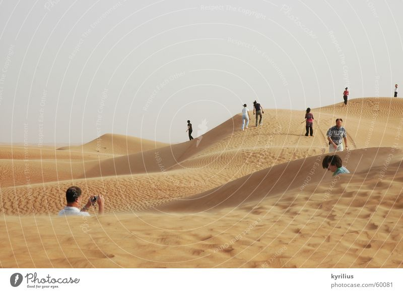 The future is... Mensch Sand orange Wüste Dubai Vereinigte Arabische Emirate