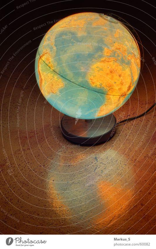 transatlantisch Globus Reflexion & Spiegelung Licht Erde Kugel