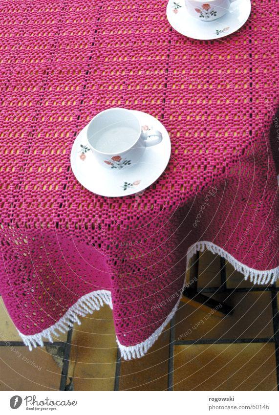 Käffchen Kaffeetasse Wachsdecke Tasse Tischwäsche