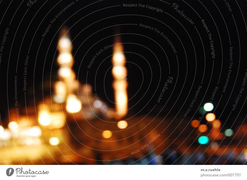 bosporus-lights Ferien & Urlaub & Reisen Stadt gelb Architektur Religion & Glaube gold Lifestyle Tourismus Glaube Wahrzeichen Stadtzentrum Sehenswürdigkeit Kuppeldach Türkei Nachtleben Lichtpunkt