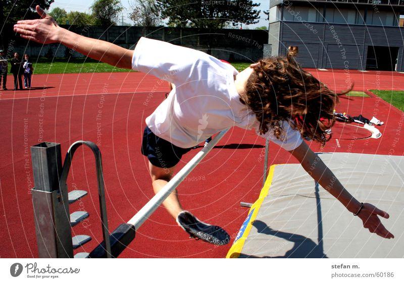 bogenspannung Sport springen Elektrizität Sportveranstaltung Stadion Leichtathletik Hochsprung