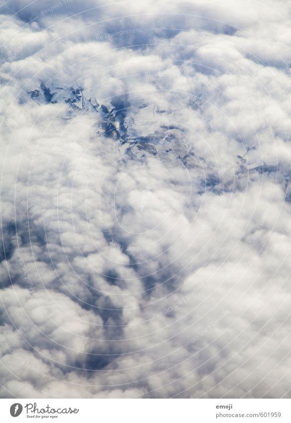 Schemen Himmel Natur blau weiß Wolken Umwelt Luft nur Himmel