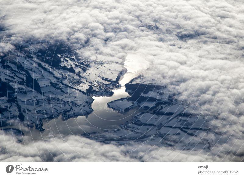 See Natur blau weiß Landschaft Wolken Winter Umwelt Schnee