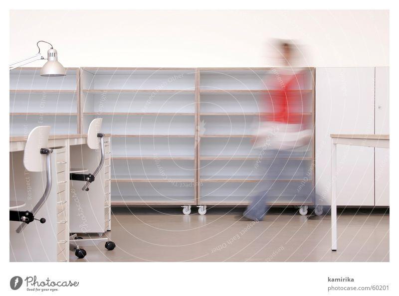 whiteoffice #6 weiß kalt Fenster Stil Büro Metall Lampe Business hell Arbeit & Erwerbstätigkeit Design modern ästhetisch Tisch Stuhl weich