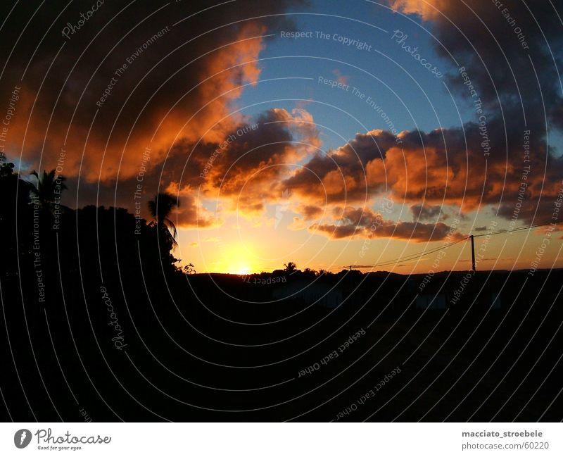 Showdown in Brasil Brasilien Sonnenuntergang Wolken