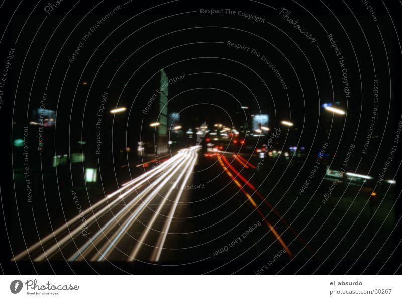Das wars! Adé, Ost West Straße! Nacht Licht Langzeitbelichtung Belichtung Hamburg PKW ost west straße
