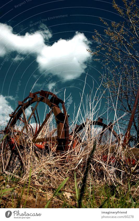 farmer's toy depri Länder Gras Baum Wolken country Landschaft Himmel
