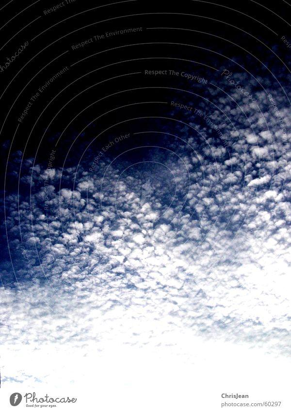 Titellos Himmel blau Wolken Bewegung Wind Aktion Umzug (Wohnungswechsel) Strahlung Schweben ziehen wehen Blauer Himmel rollen dramatisch Übergang Flocke