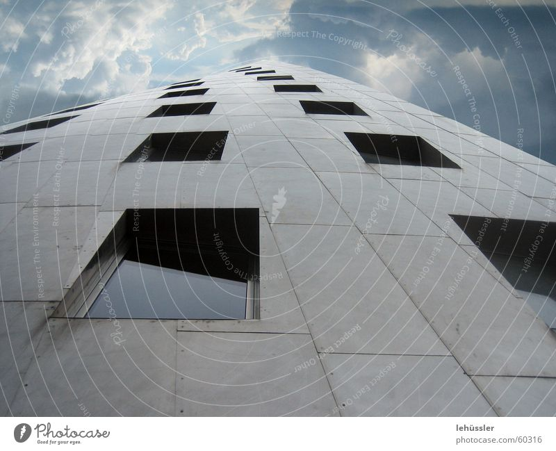 rise up to the sky Himmel Wolken Fenster Hannover Gehry Bauten Steintor