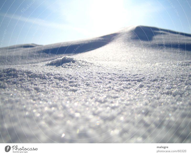 Winterzauber Sonne Schnee