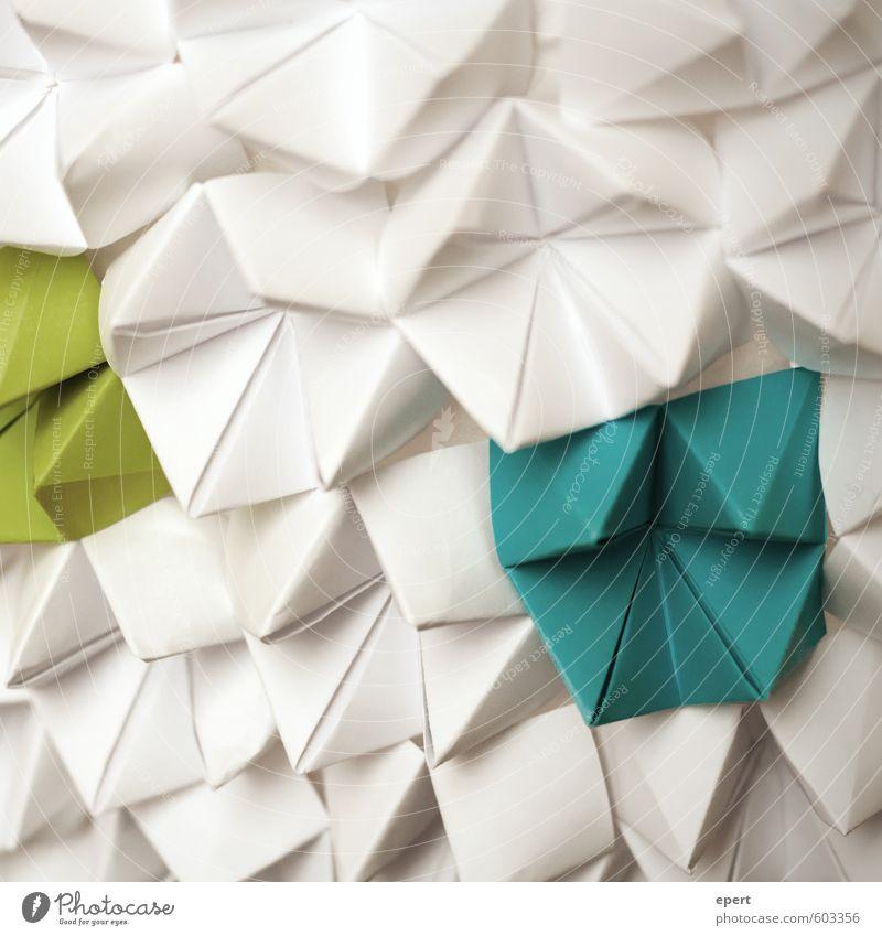 Himmel und Hölle blau grün weiß Kunst Freizeit & Hobby Design Dekoration & Verzierung ästhetisch einfach einzigartig Kreativität Papier Idee Inspiration Kunstwerk Basteln