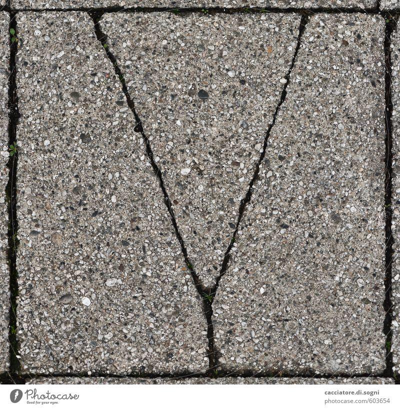 Prost Neujahr Stadt schwarz Umwelt Straße Wege & Pfade lustig grau Stein Linie Design trist Schriftzeichen Idee einfach Vergänglichkeit einzigartig