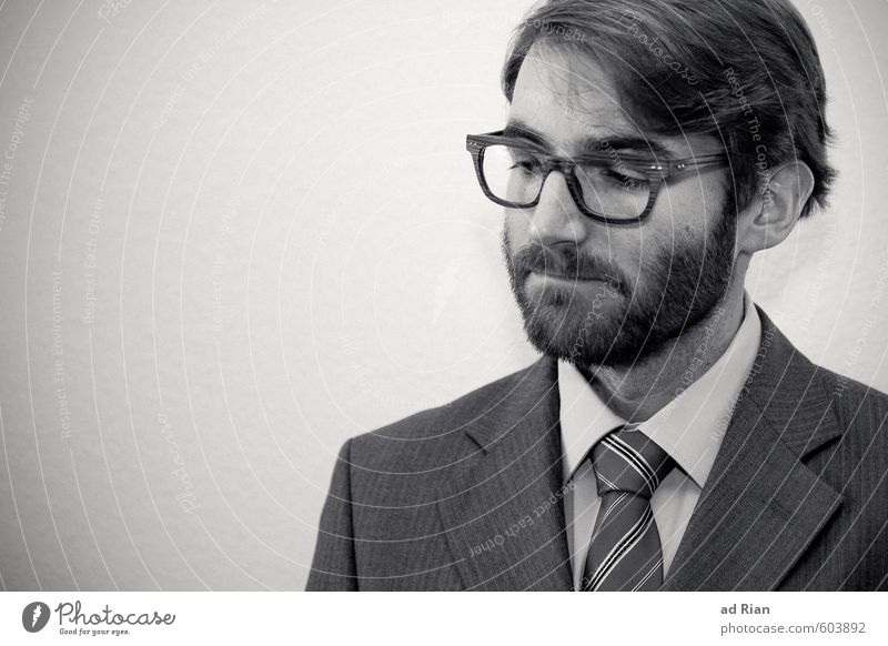 The Beginning Mensch Jugendliche Mann Junger Mann Gesicht Erwachsene Haare & Frisuren Stil Kopf Mode maskulin Business Kraft elegant Lifestyle Erfolg