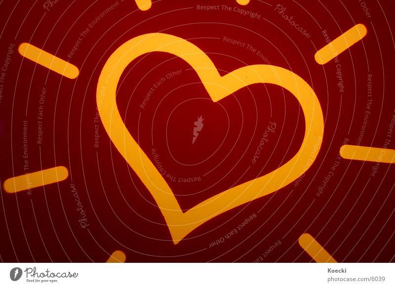 Glowing Heart Liebe Lampe Herz Schilder & Markierungen