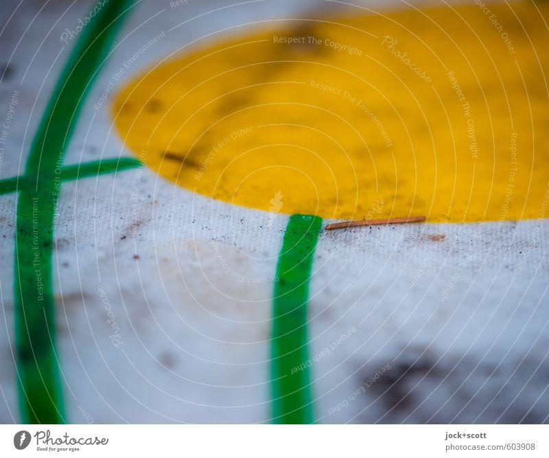 aparte Tischdecke Stil Tannennadel Tischdekoration Stoff Ornament Linie dreckig gebraucht Spuren Gedeckte Farben Detailaufnahme abstrakt Muster