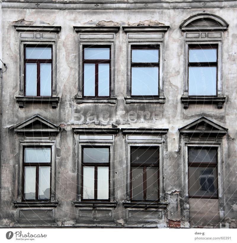 bäckerei a.d. Haus Einsamkeit Fenster Mauer Fassade Dresden Ruine Ostholstein Putz Bäcker Ladengeschäft Bäckerei Neustadt