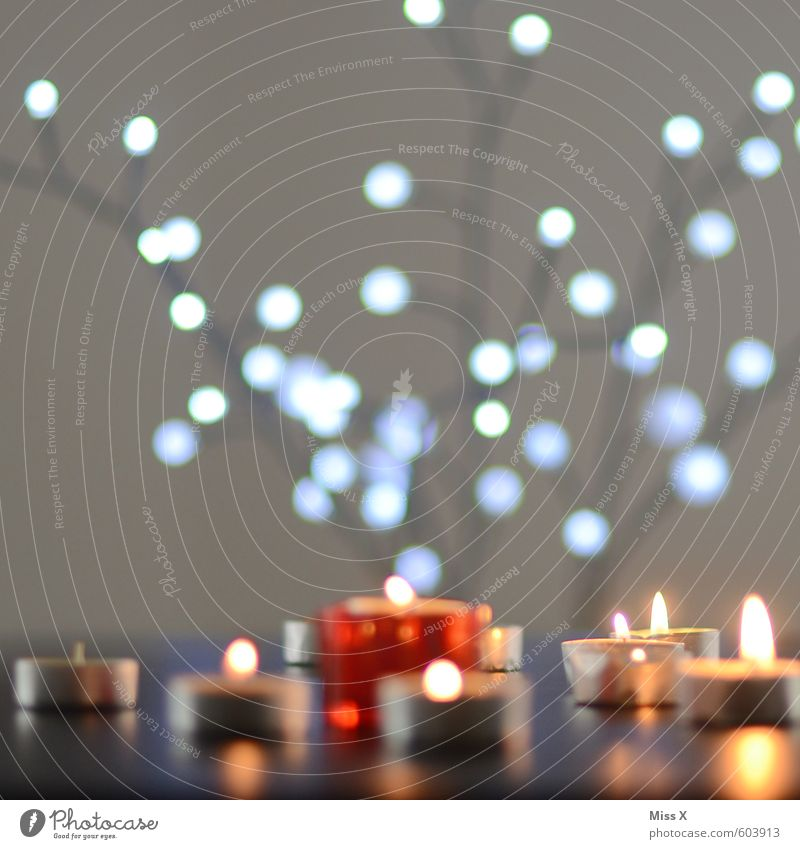 Bunte Lichter Wellness Erholung ruhig Meditation Dekoration & Verzierung Lampe Feste & Feiern Weihnachten & Advent leuchten hell Stimmung Romantik Teelicht