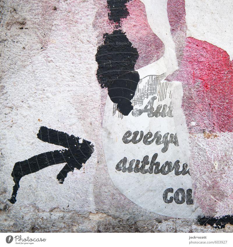 Kuschelgruppe > ist das Kunst oder kann das weg? weiß schwarz Wand Graffiti Stil Mauer grau rosa dreckig ästhetisch Kreativität Idee einzigartig kaputt Papier