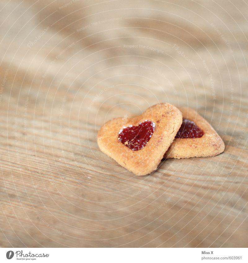 Keks Lebensmittel Teigwaren Backwaren Süßwaren Marmelade Ernährung Kaffeetrinken Valentinstag Herz lecker süß Gefühle Stimmung Liebe Verliebtheit Romantik