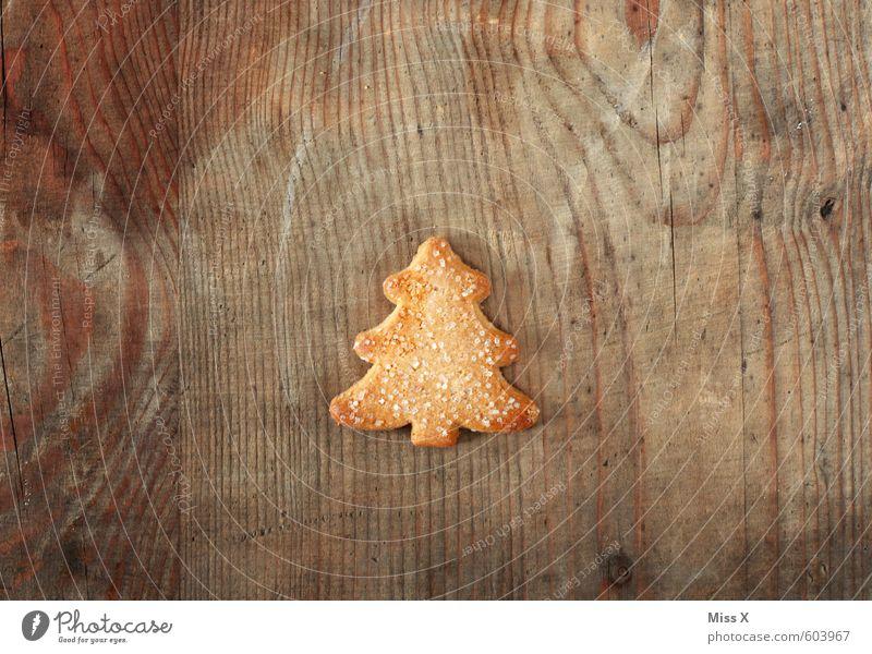 Nach dem Fest ist vor dem Fest Lebensmittel Teigwaren Backwaren Süßwaren Ernährung Kaffeetrinken klein lecker süß Weihnachtsbaum Plätzchen Weihnachtsgebäck Holz