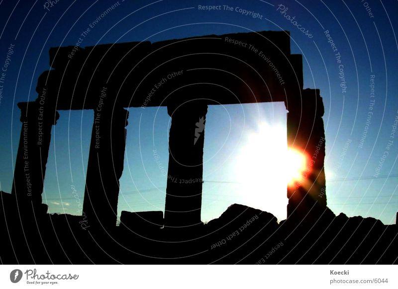 In the Sun Sonne Ferien & Urlaub & Reisen Wärme Architektur Physik Säule Türkei blenden Blende