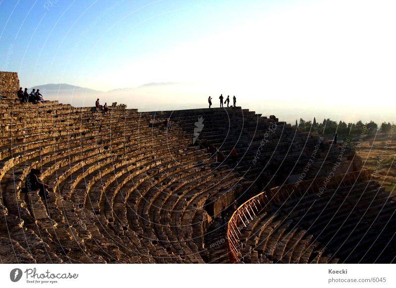 Amphitheater Mensch Sonne Architektur Theater Säule Türkei Griechen