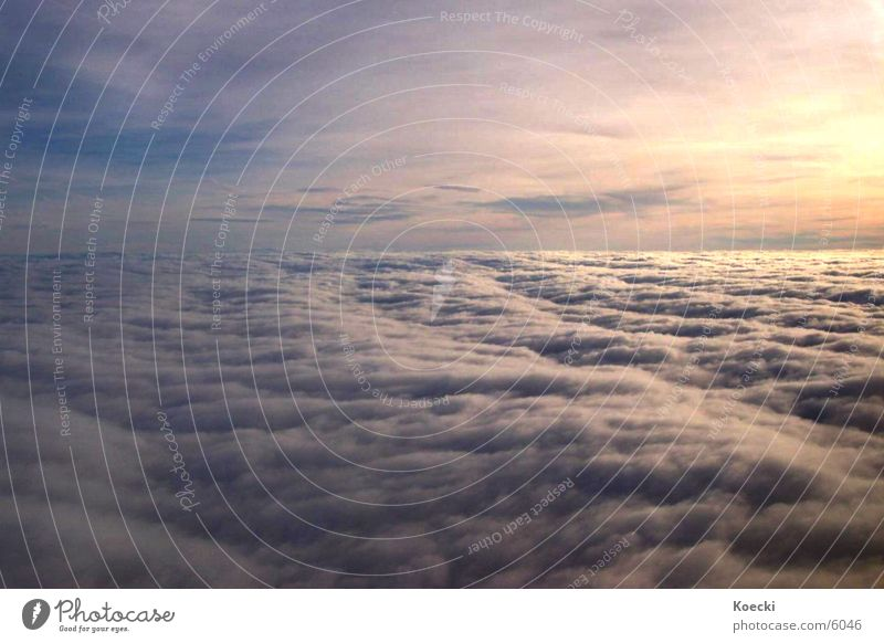 Über den Wolken Sonne Ferien & Urlaub & Reisen Wolken orange Flugzeug Treppe Luftverkehr Flughafen Türkei Sonnenaufgang Passagierflugzeug
