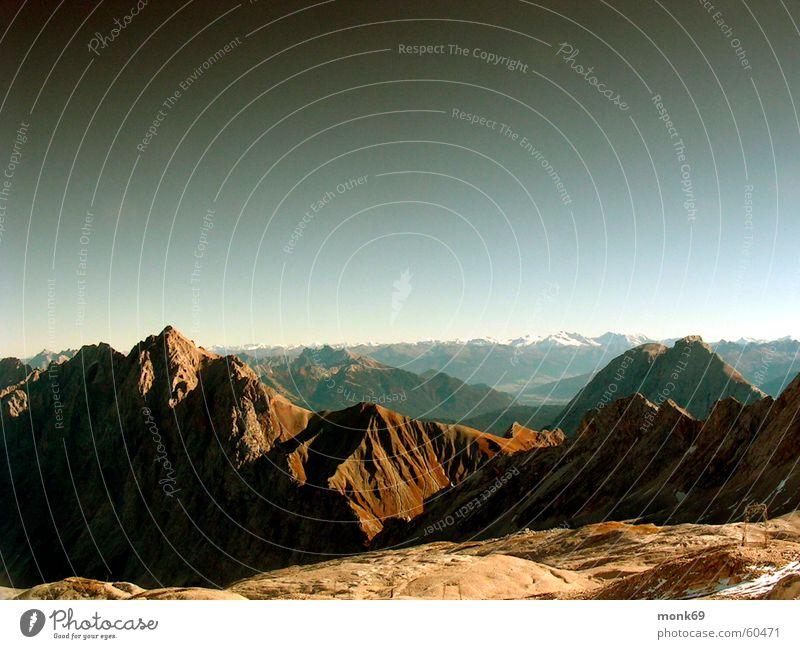 ganz oben auf´m berg Natur Berge u. Gebirge Deutschland wandern Aussicht Alpen Bayern Bergsteigen Zugspitze