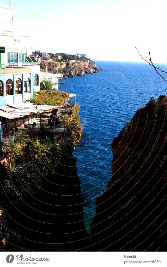 Antalya Sea Wasser Sonne Meer Haus Stein See Wärme Bar Physik Café Türkei Klippe Antalya
