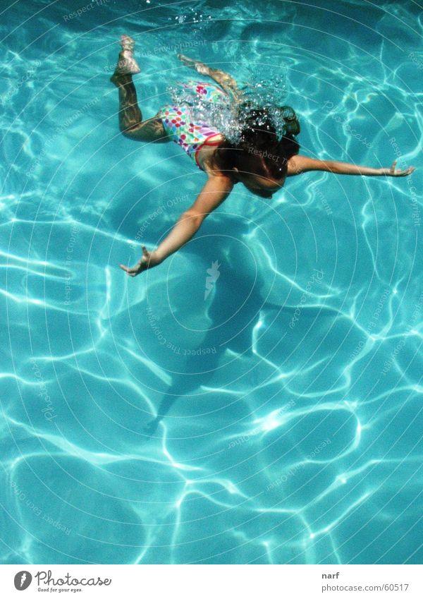 Swimming through Summer Mädchen Sommer Schwimmbad