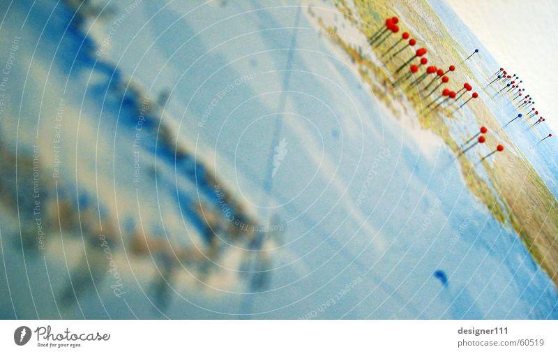there's so much to see . . . Globus Stecknadel Anschnitt Bildausschnitt Detailaufnahme Weltkarte Weltreise