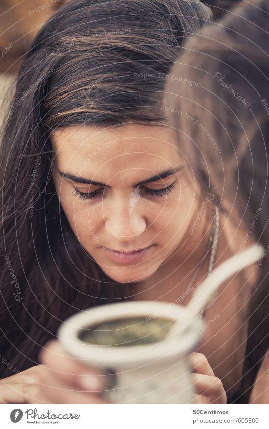 Langhaarige Schönheit von Argentinien lesen Mensch feminin Junge Frau Jugendliche Erwachsene Kopf 1 2 13-18 Jahre Kind 18-30 Jahre Haare & Frisuren brünett