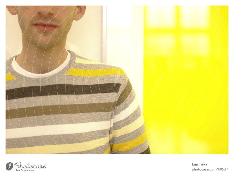 gelbsucht #2 gelb Bild Streifen Pullover Baumwolle Polyester