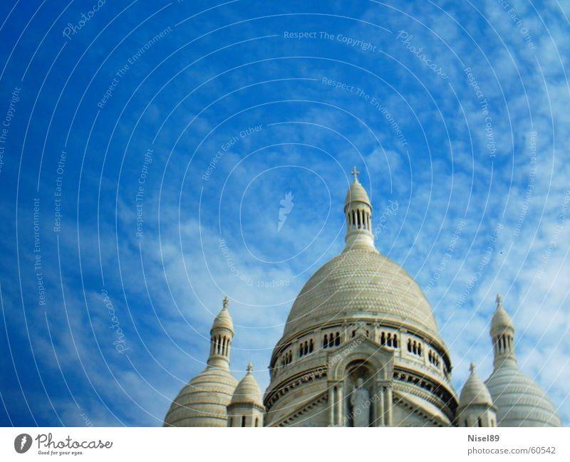 blue sky above the curch Religion & Glaube blau church